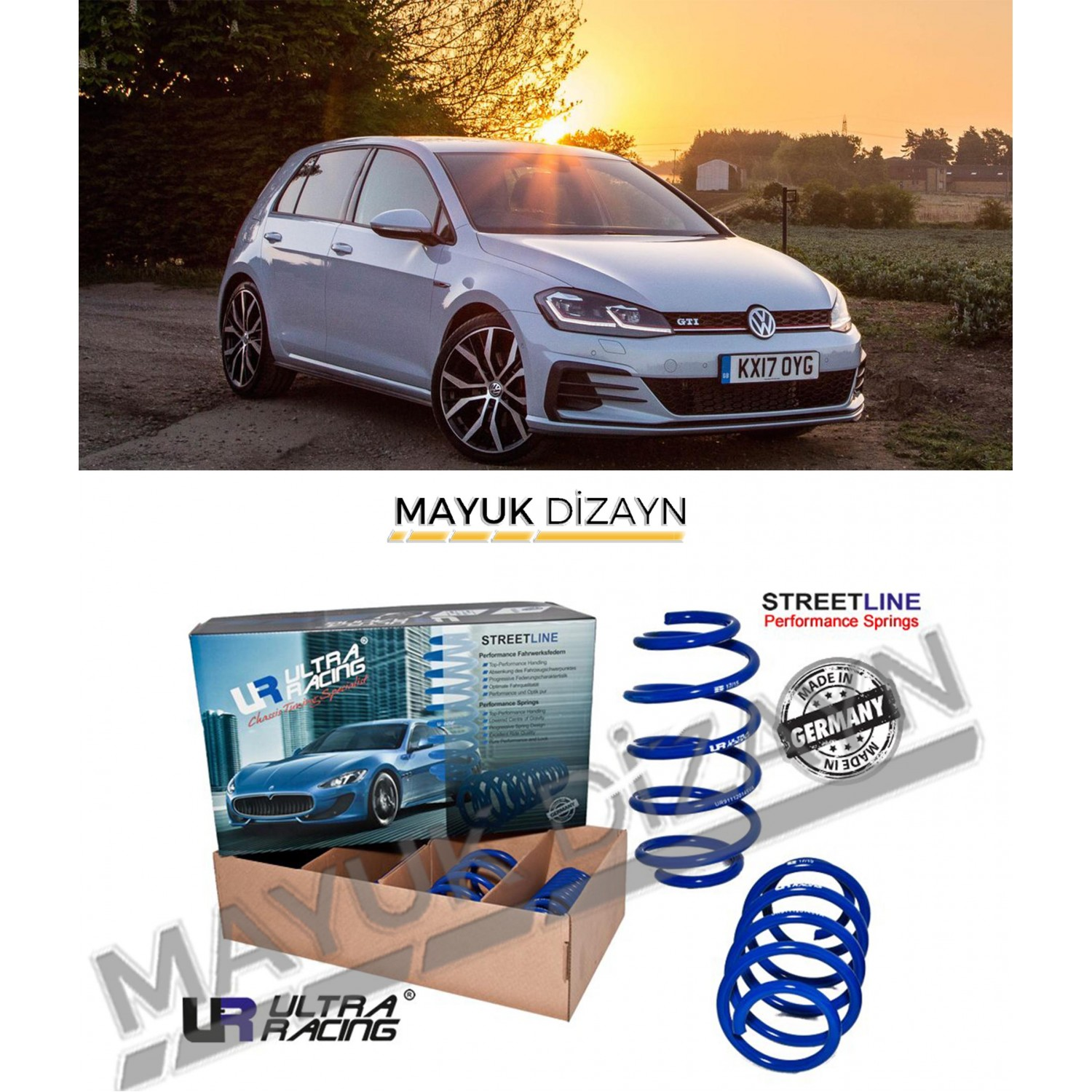 VW GOLF MK7/7.5 ULTRA RACING SPOR YAY (2012-) -MAYUK Dizayn-