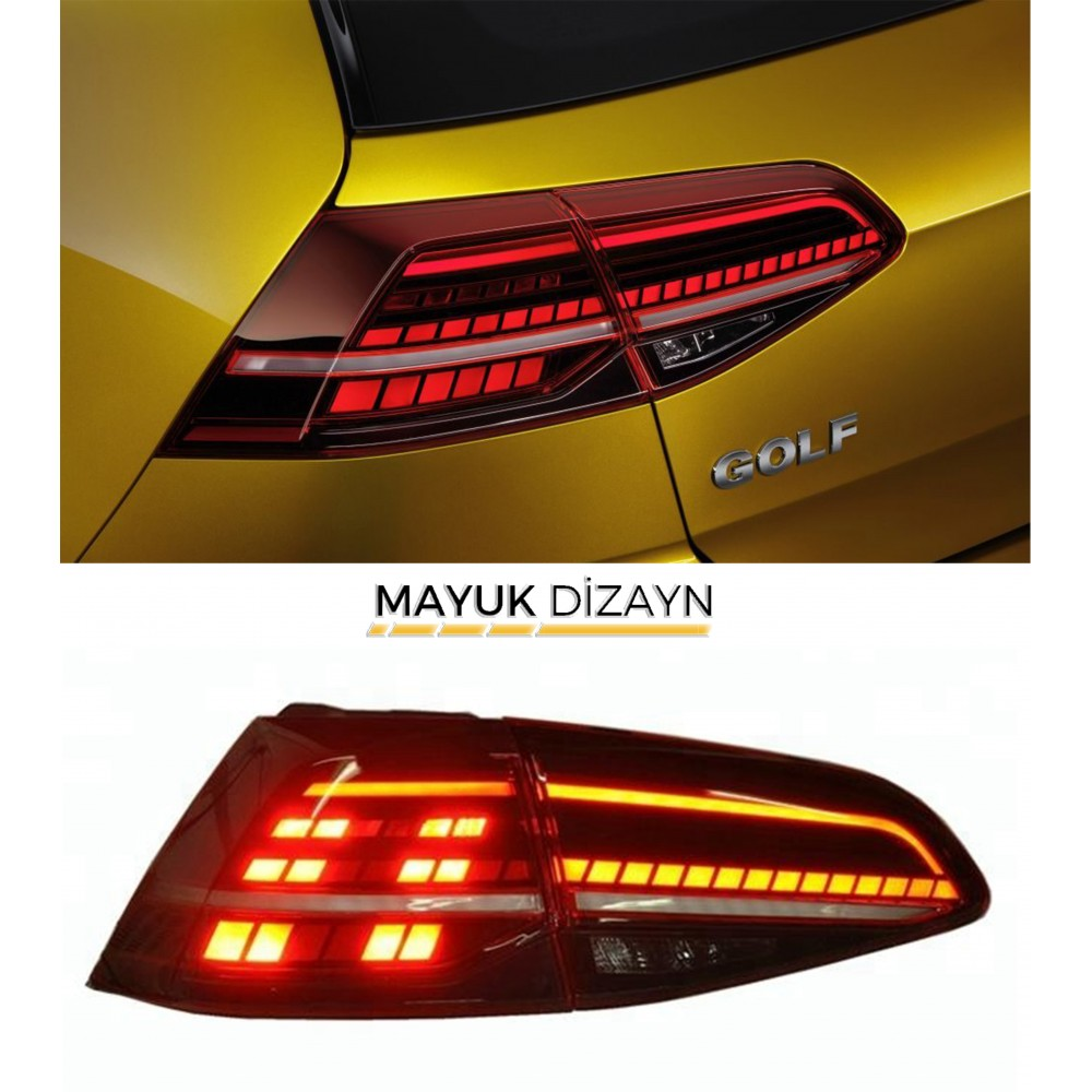 VW GOLF 7 / 7.5 Highline Led Stop Takımı (2012-) --MAYUK Dizayn--