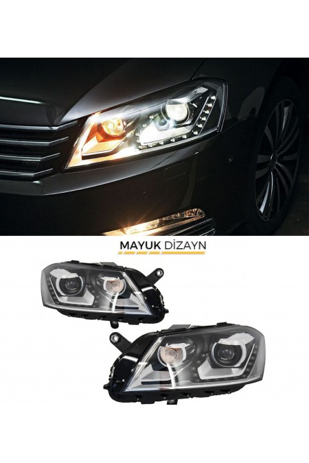 VW PASSAT B7 Highline Ledli Far 2011-2014 --MAYUK Dizayn--