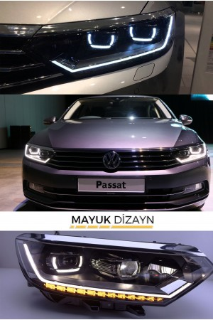 VW PASSAT B8 Highline Ledli Far Seti (2014-) --MAYUK Dizayn--