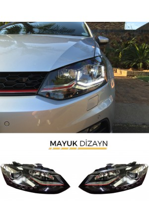 VW POLO 6R/6C GTİ Ledli Far 2010-2016 --MAYUK Dizayn--
