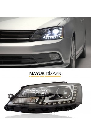VW JETA MK6 Highline Ledli Far Seti (2011-) --MAYUK Dizayn--